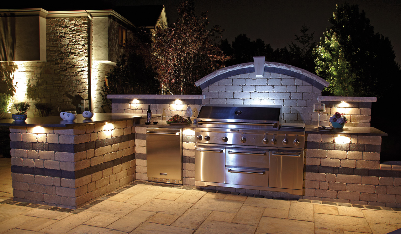 Outdoor Kitchen Grills L Shaped With Bar