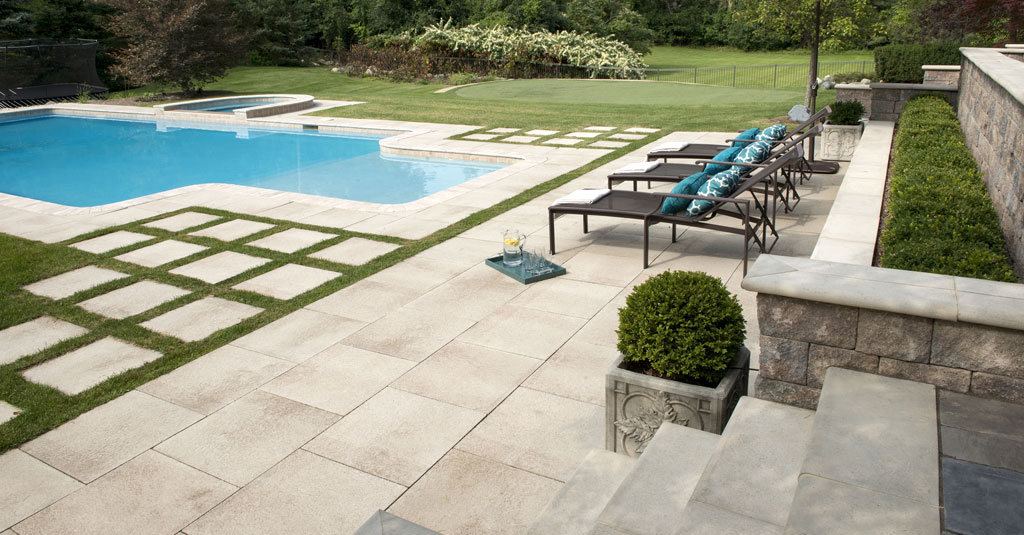 pool design pattern 10 patios that use paver patterns to make a statement