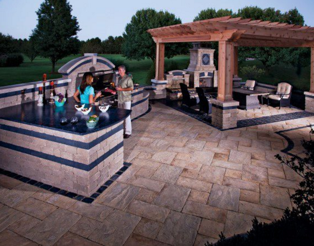 Kitchen Counter Top Materials 10 Outdoor Kitchen Designs Sure To Inspire Unilock