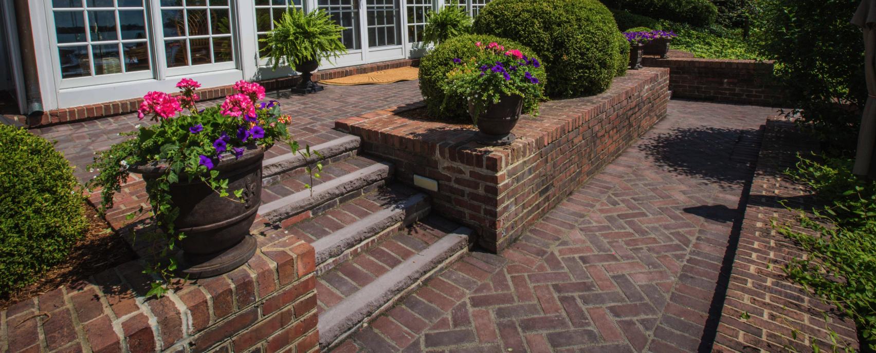 patio design ideas using concrete pavers for big backyard style