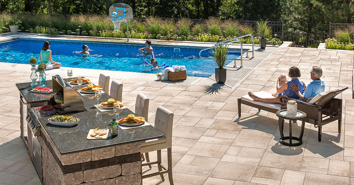outdoor kitchen design long island. outdoor kitchen design in huntington bay, ny | islip, hardscaping long island d