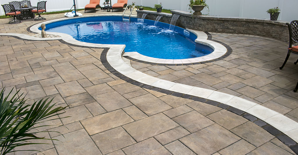 Unilock Treo Pool Patio in Long Island, NY