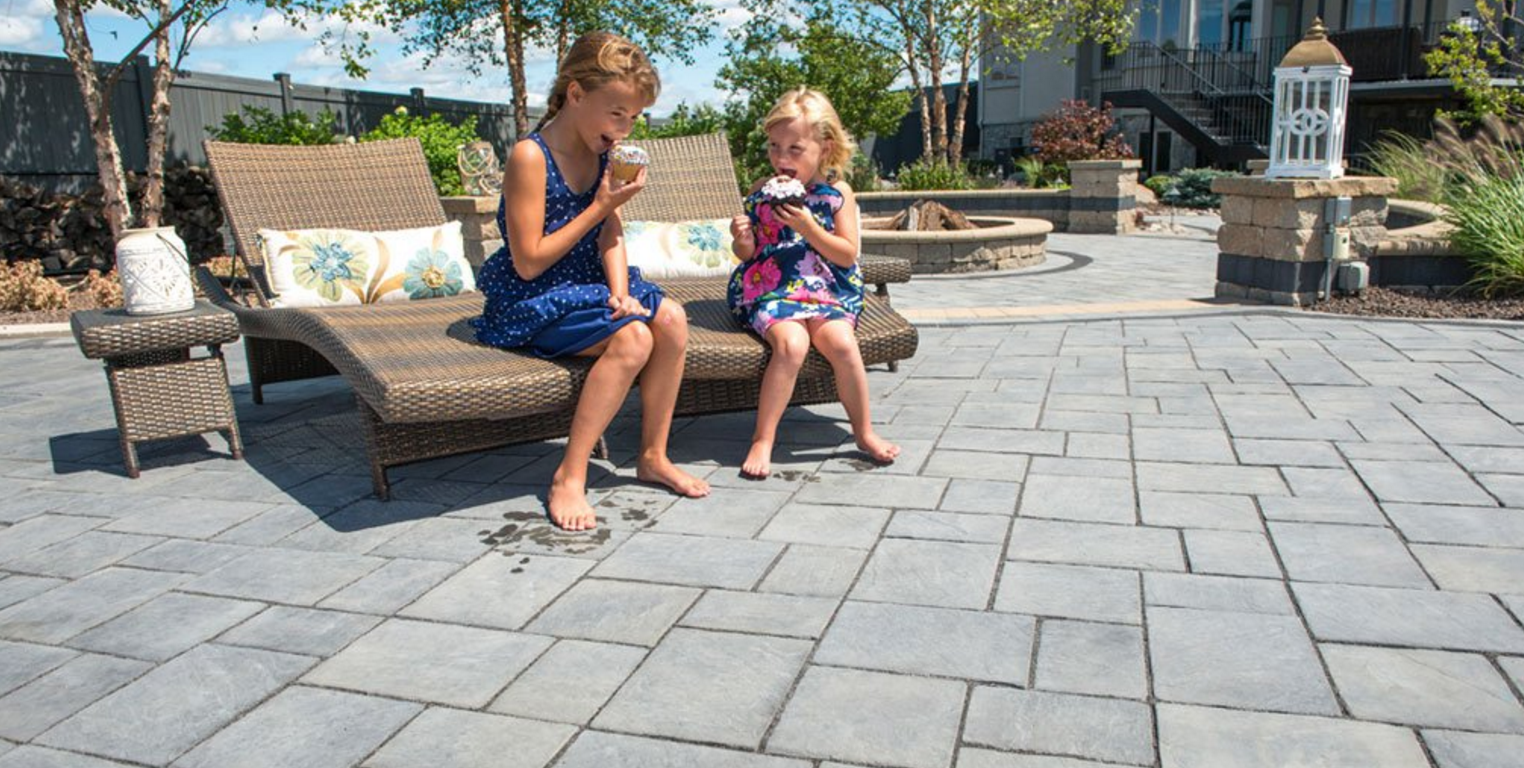 Kid friendly landscape design with pavers in NY, NJ, and PA