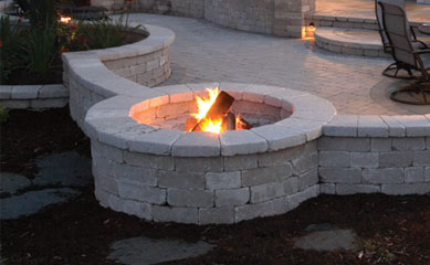OLD QUARRY U0026 BRUSSELS DIMENSIONAL STONE. This Custom Firepit ...