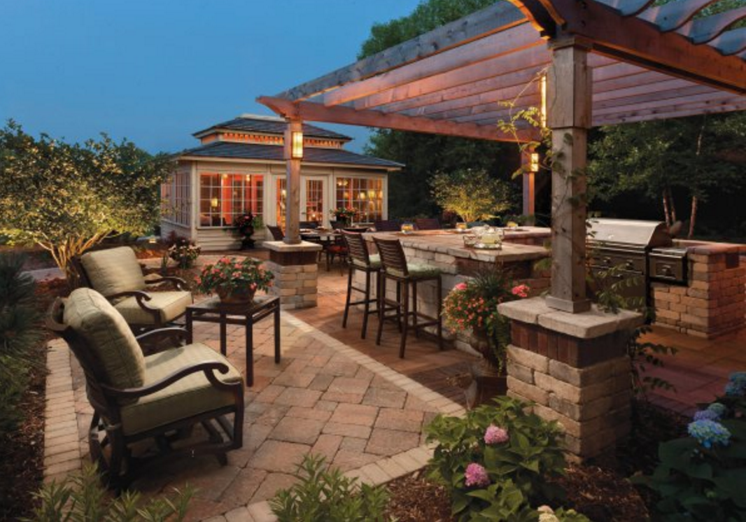 outdoor kitchens and patios designs. outdoor kitchen design, landscaping ideas, concrete pavers, ny, nj, pa, kitchens and patios designs