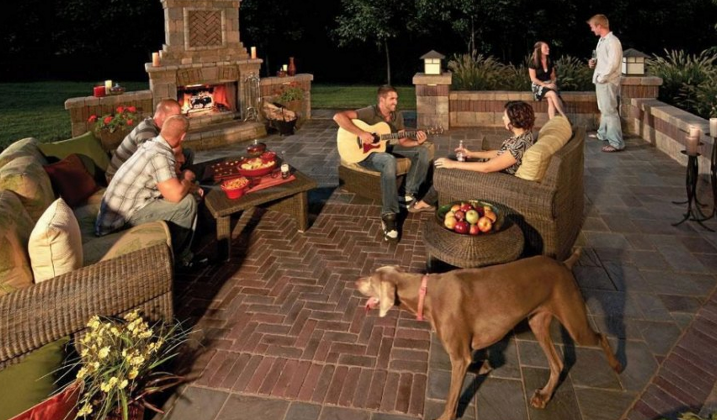 NY, NJ, PA, CT Landscaping Ideas, Outdoor Kitchen, Outdoor fireplace