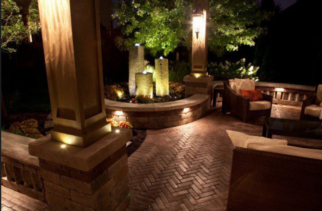 Landscape Lighting for Water Features and Patios
