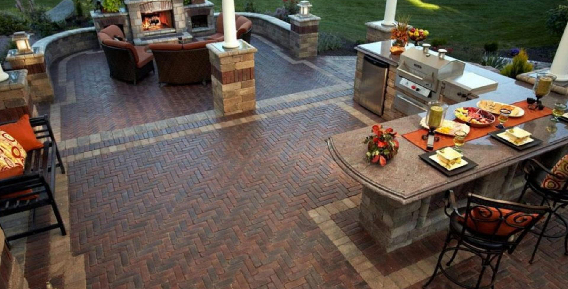 Landscaping ideas for NY and NJ: Outdoor fireplaces, outdoor kitchens