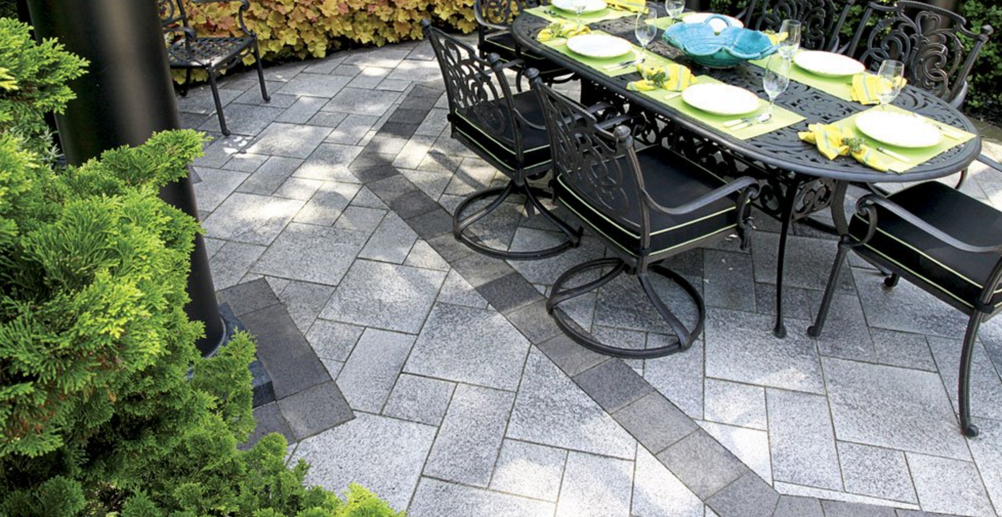 Banding, Borders, And Inlays: Patio Stone Designs For Burlington, ON  Landscapes