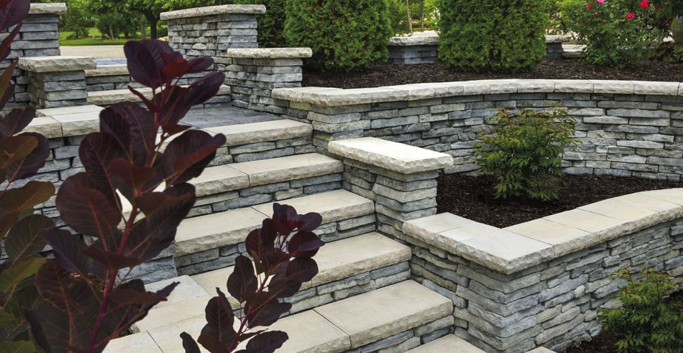 Terraced Retaining Walls Designs NY, NJ, CT, PA