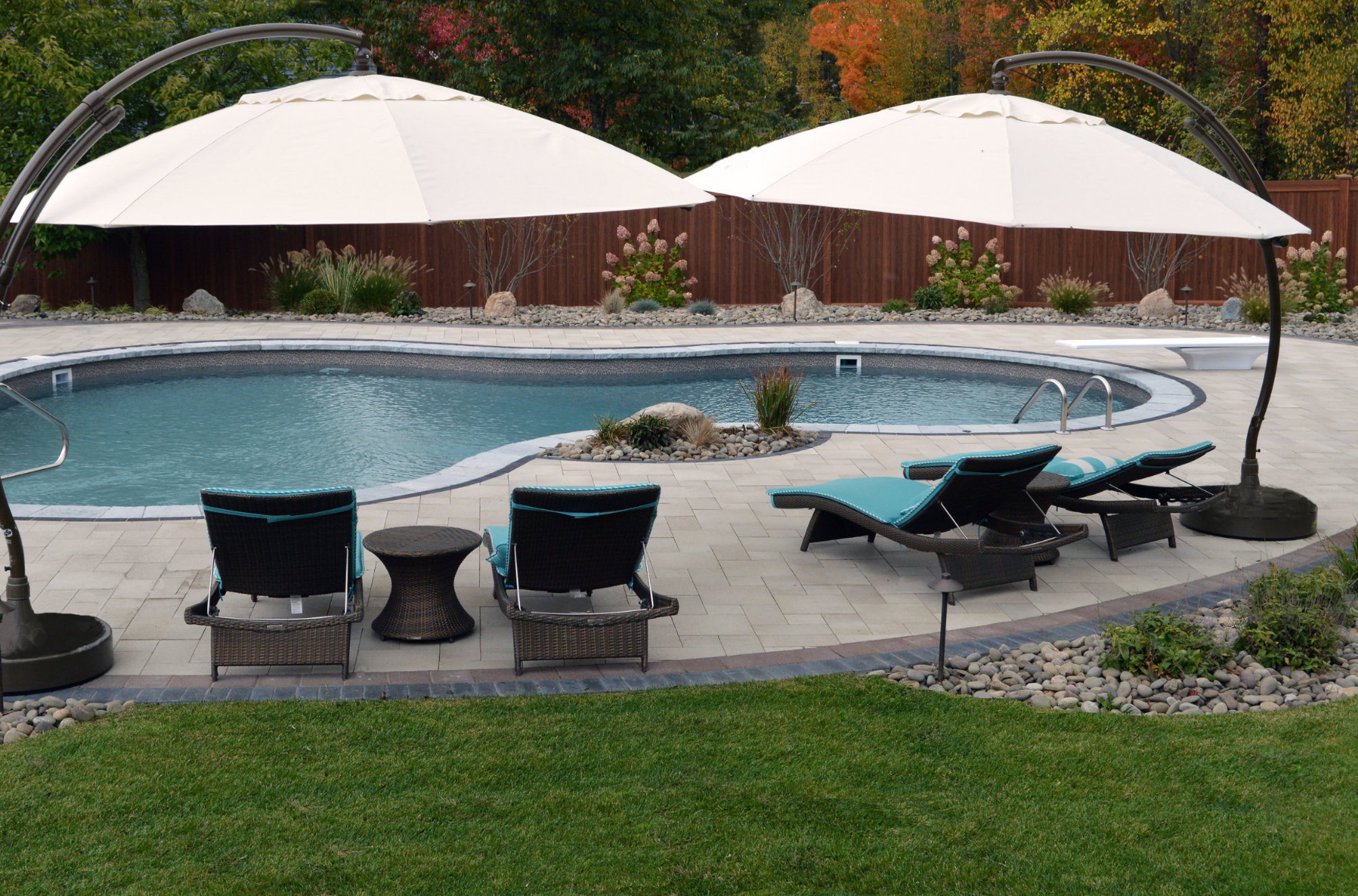 montgomery ny backyard oasis features unilock pavers unilock