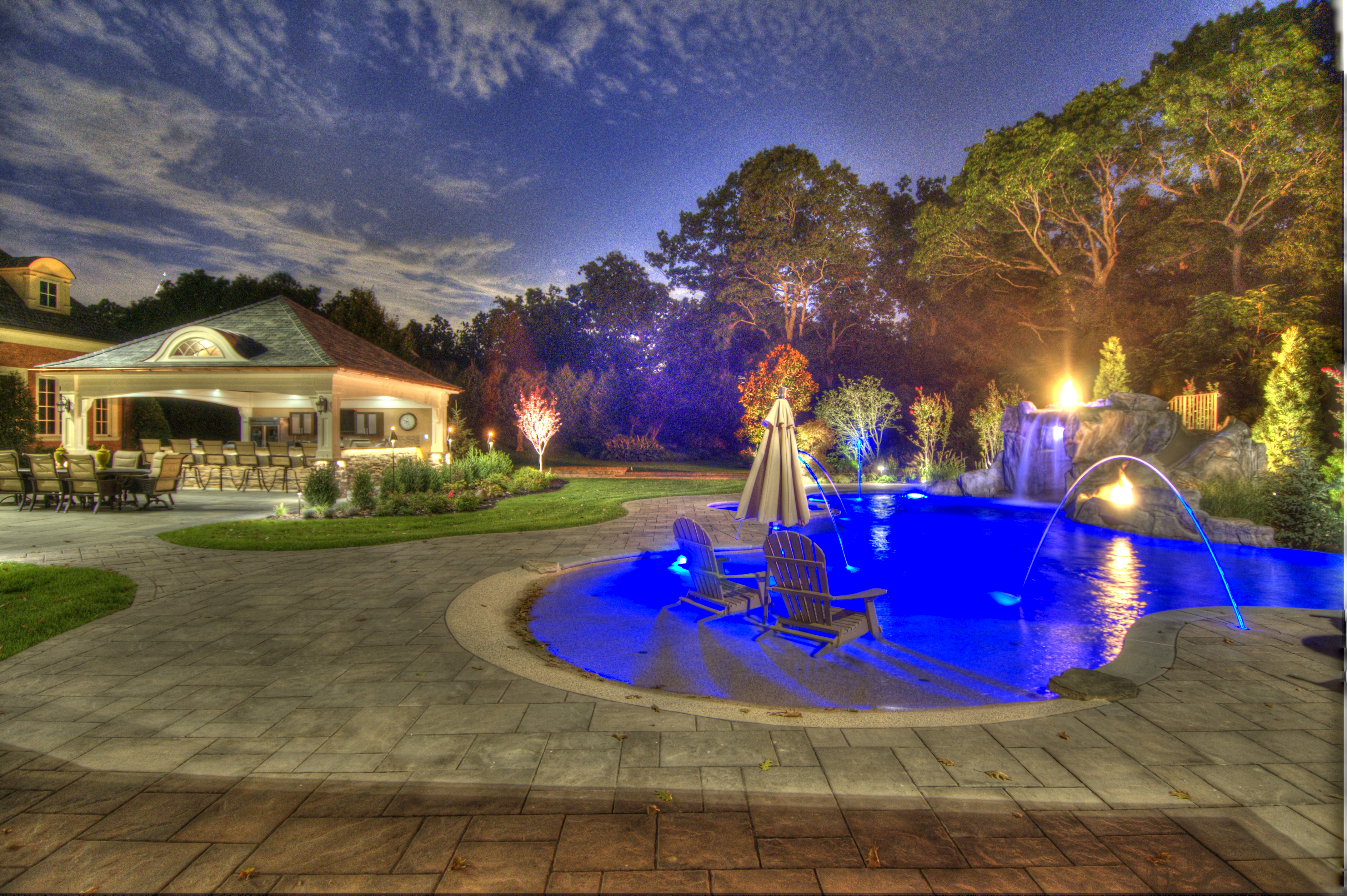 A Magical Backyard Transformation In Smithtown Ny Using Unilock S