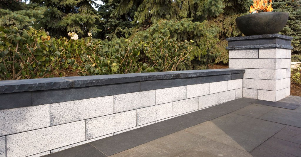 5 wall blocks for stunning vertical landscape elements and for Block wall landscape design
