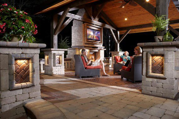 How To Make Your Outdoor Fireplace The Center Of Attention
