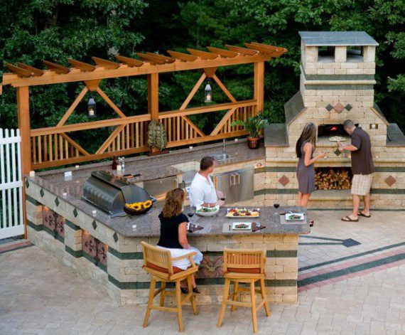 How To Make Your Outdoor Fireplace the Center of Attention   Unilock