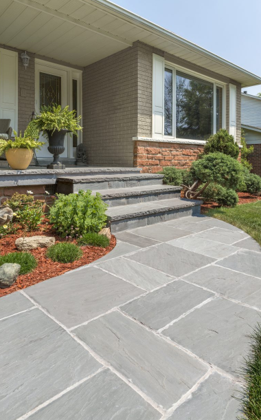 Natural Stone: Limestone or Sandstone for Your Spring Lake Heights, NJ, Front Walkway