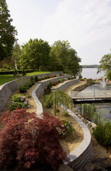 Creating Raised Beds With Unilock RomanWall in Your Greenwich, CT, Landscape Design