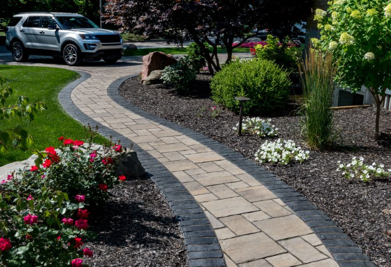 Unilock Driveway Flagstone Car Pavers Walkway Endura Color Thornbury