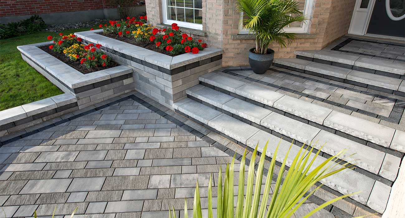 Adding Planters Pillars Steps And Walls To Your Paver Project