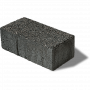 Series paver in black granite