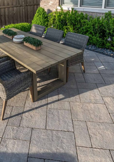 Large table placed on Bristol Valley Pavers