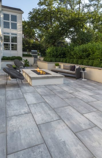 Using Concrete Pavers to Complement the Architectural Style of a Pearl River, NY, Home