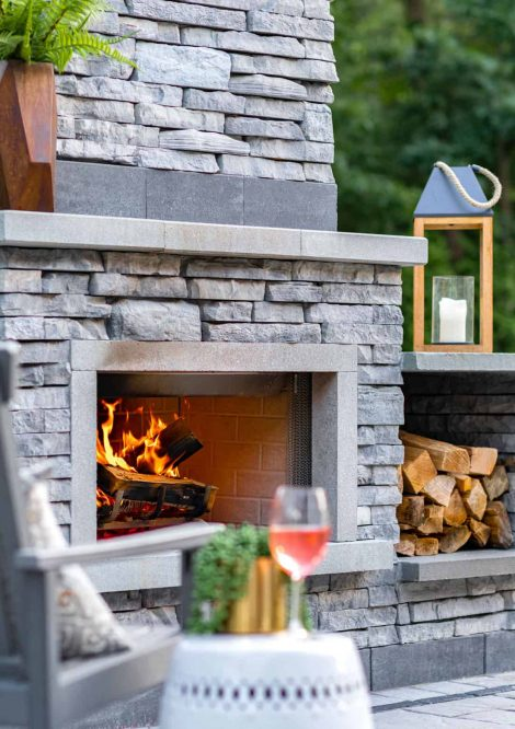 Custom Rivercrest Wall Fireplace