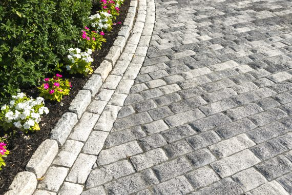 Concrete Paving Options Inspired by the Look of Cobble-Sized Stones in Oxford, CT