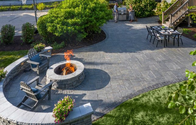 Patio with gentle curves